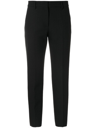 cropped women spandex black pants