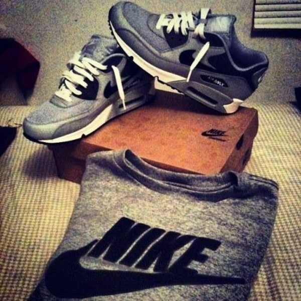 shoes nike grey pullover