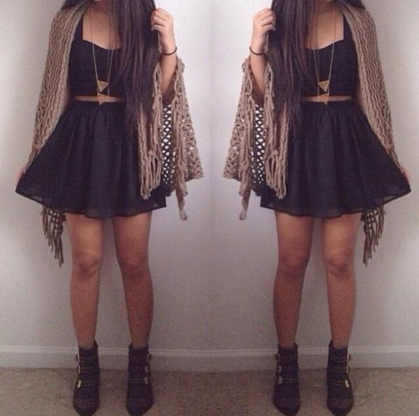 dress summer black
