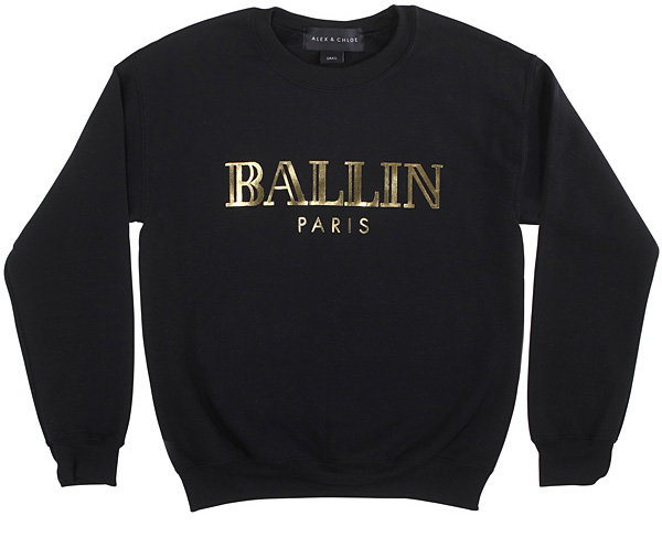"Alex & Chloe's ""BALLIN Paris"" T-Shirt & Sweatshirts - The Latest Fashion Pun of 2013"