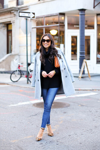 with love from kat blogger bag coat jeans shoes jewels