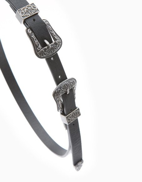 Stradivarius style belt black