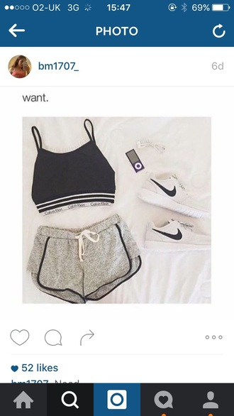 shorts grey with black lined shorts