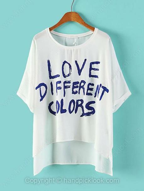 asymmetrical t-shirt t-shirt top