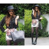 bag,tote bag,black,women,blogger