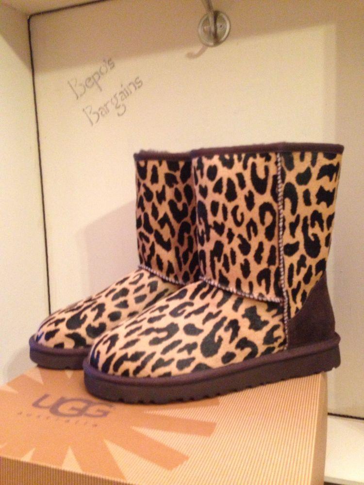 ugg short leopard