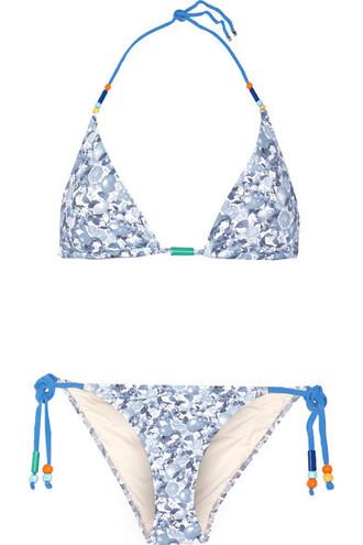 bikini triangle bikini triangle light beaded blue light blue swimwear