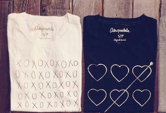 t-shirt please help me find some top tank top heart arrow xoxo