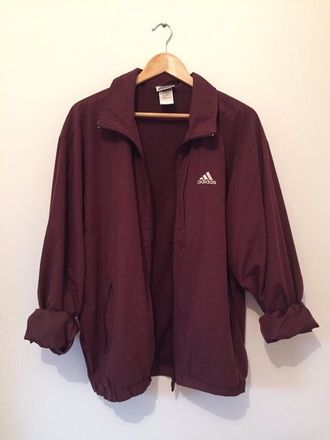 jacket adidas adidas jacket maroon adidas jacket coat windbreaker burgundy jacket burgundy maroon/burgundy red rouge bordeaux women basic nike bordeau red wine