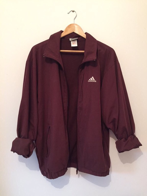 jacket adidas adidas jacket jacket maroon adidas jacket coat windbreaker burgundy jacket burgundy maroon/burgundy burgundy red rouge bordeaux women basic nike bordeau red wine burgundy bordeaux adidas jacket sporty vintage purplish crimson silk women's adidas windbreaker coach menswear sportswear spring outfits