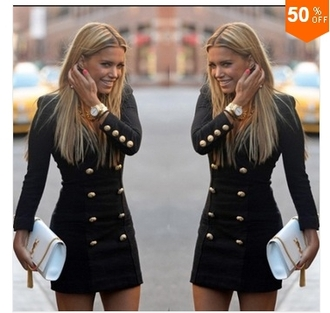 dress love navy black coat design beautiful buttons fall outfits long sleeve dress short dress