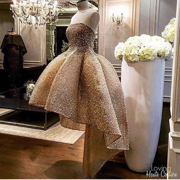 Short Gold Classy Dresses