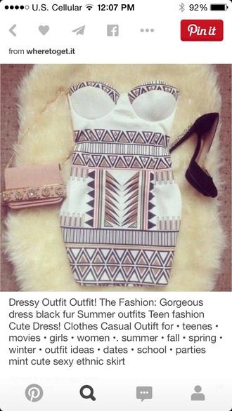 dress tribal cute chic