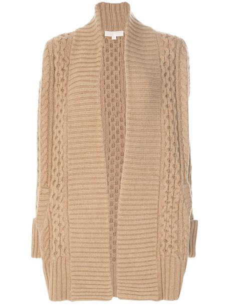 cardigan cardigan open women wool knit brown sweater