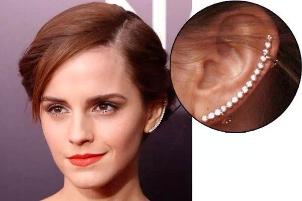 jewels earrings diamonds silver emma watson