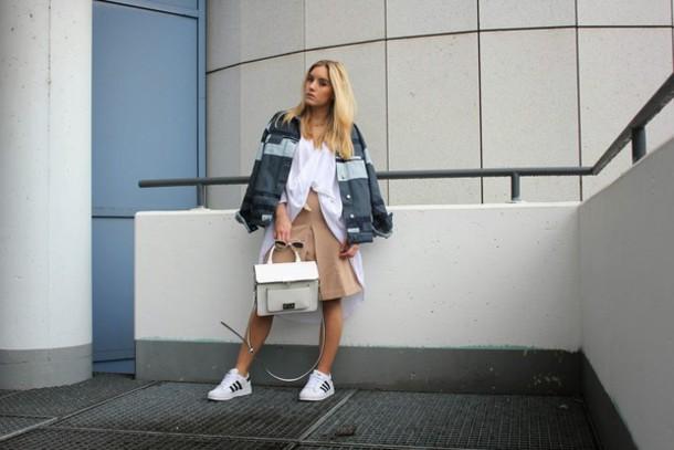 fashion twinstinct blogger jacket top skirt bag sunglasses jewels shoes