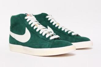 shoes dark green nike nike blazer