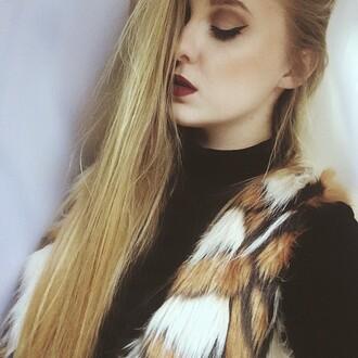 cardigan faux fur vest faux fur fur vest faux