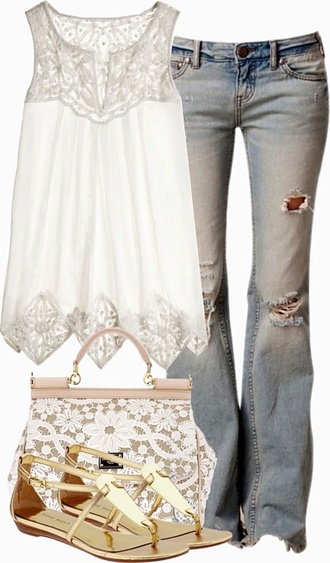 top blouse shirt lace top crochet top white top sleeveless dress