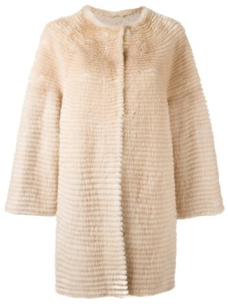 coat fur women midi nude