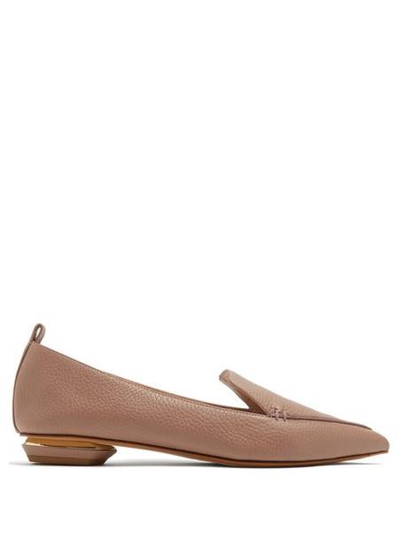 Nicholas Kirkwood - Beya Grained Leather Loafers - Womens - Light Purple