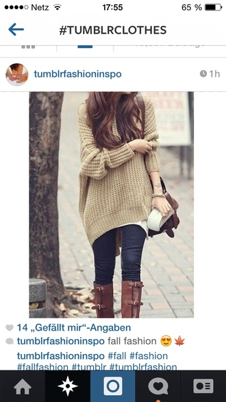 heavy sweater oversize jumper brown sweater oversized sweater pullover pulli