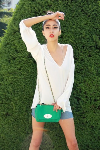 denni chic muse green bag