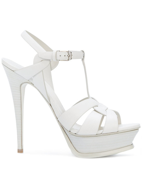 Saint Laurent women classic sandals leather white shoes
