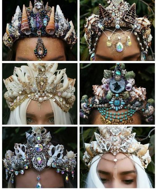 hair accessory crown flower crown jewels jewelry head jewels mermaid 25eb9af1bec