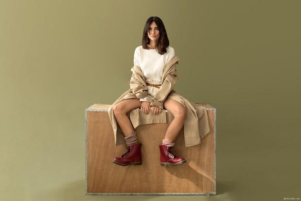 garance dore blogger top shorts shoes dress jacket belt bag jewels