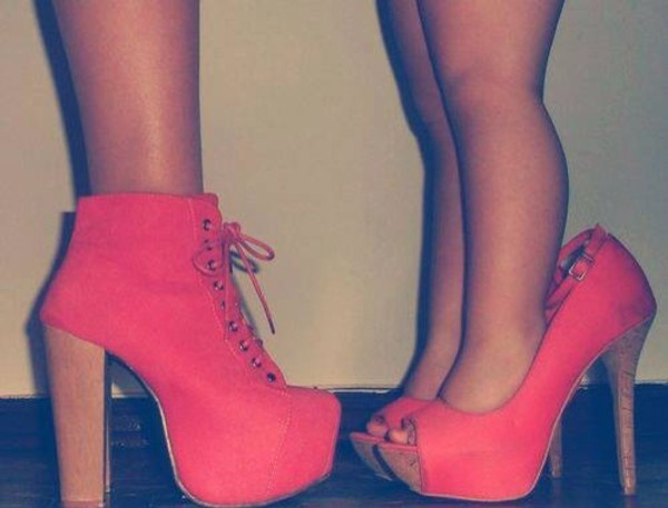 shoes coral
