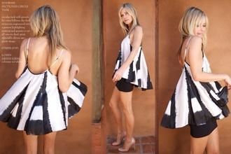 blouse tank top silk black and white garner grace