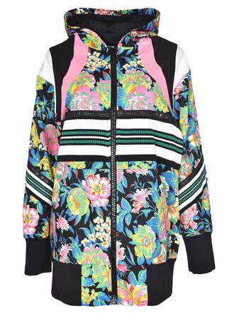 parka floral coat
