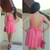 Backless Bow-knot Bound Waist Dress - OASAP.com