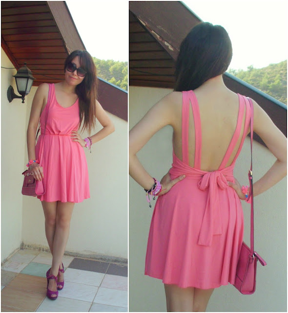 Backless Bow-knot Bound Waist Dress - OASAP.com