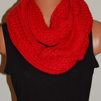 red scarf fashion style scarf red