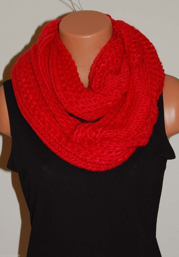 scarf red fashion style