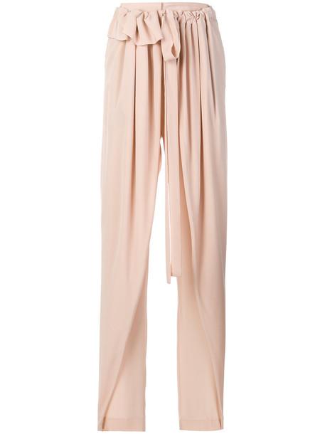 Stella McCartney women silk purple pink pants