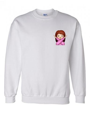 Emoji crossed out crewneck sweatshirt