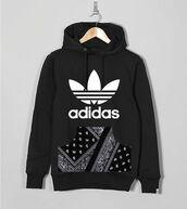 top,paisley,urban,streetwear,hoodie,hoody,hooded,handmade,custom,pouch,pockets,black hoodie