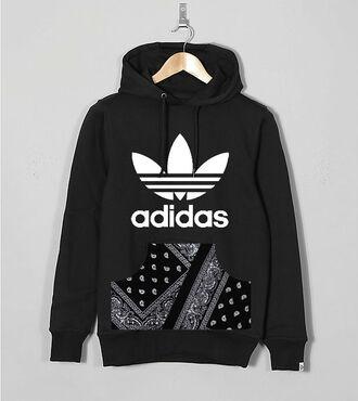 pocket top hoodie pouch streetwear hooded custom handmade paisley black hoodie
