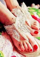 shoes,butterfly,sandals,flats
