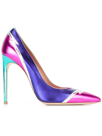women tiger pumps leather purple shoes