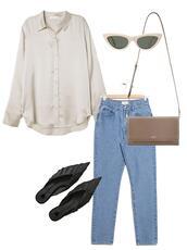 jestem kasia,blogger,shirt,shoes,sunglasses,bag,shoulder bag,silk shirt