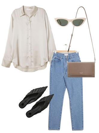 jestem kasia blogger shirt shoes sunglasses bag shoulder bag silk shirt