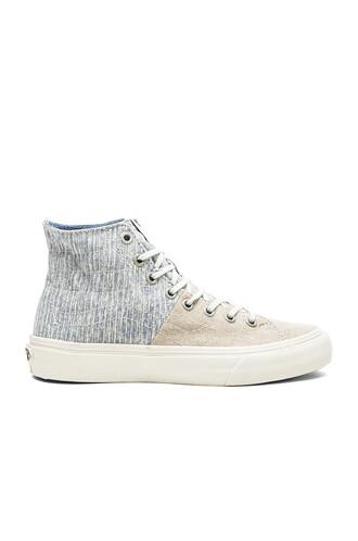 stripes blue shoes