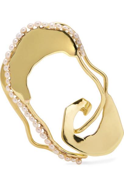 Ellery - Gold-tone Faux Pearl Ear Cuff