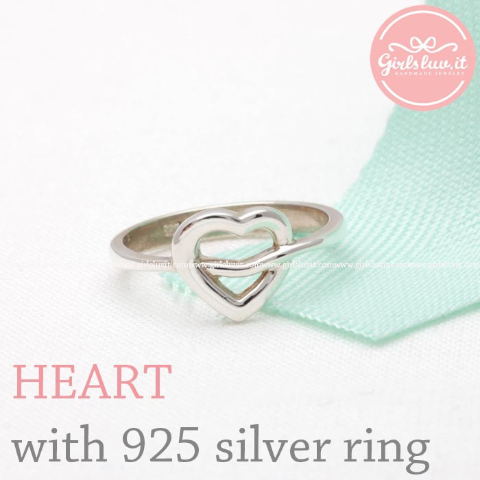 Heart with sterling silver band