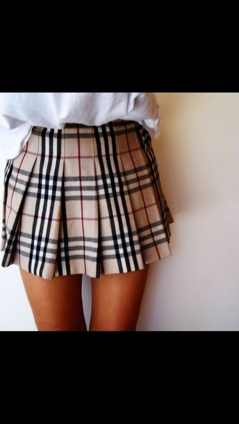 Skirt: pleated skirt, tartan, tartan skirt, ruffle skirt, skater ...