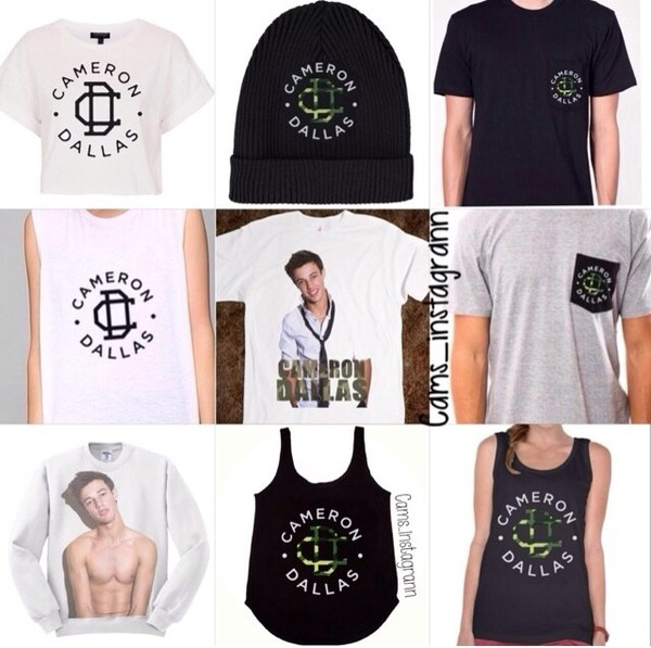 shirt cameron dallas tank top
